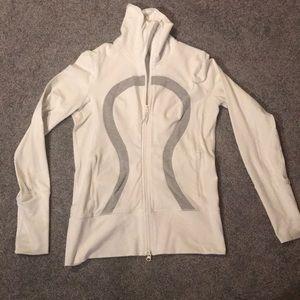 White zip jacket lululemon